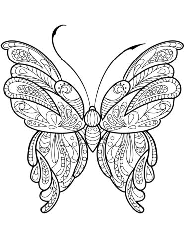 farfalla stilizzata disegno