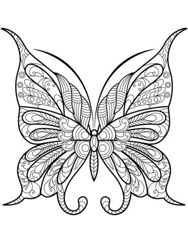 farfalle stilizzate da stampare