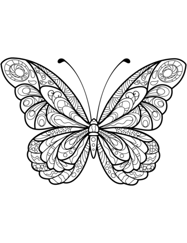 farfalle stilizzate disegni