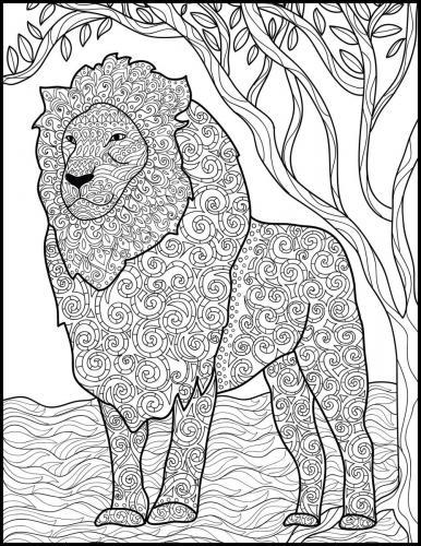 figura intera leone stilizzato
