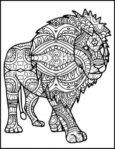 figura leone stilizzato