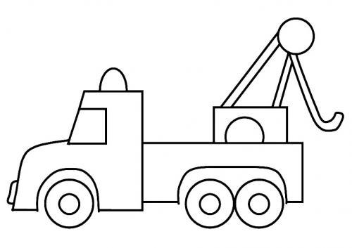 figure camion da colorare