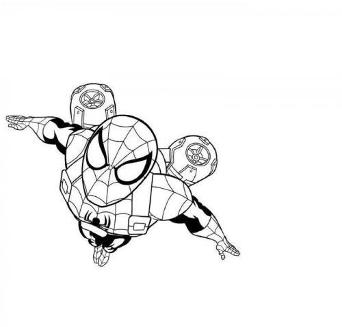 figure spiderman da colorare