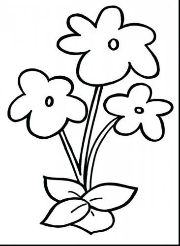 fiore da colorare per bambini
