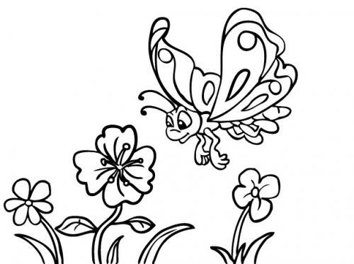 fiori e farfalle da colorare per bambini