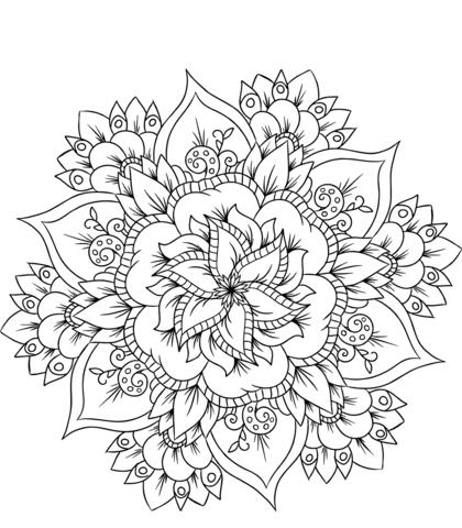 fiori mandala