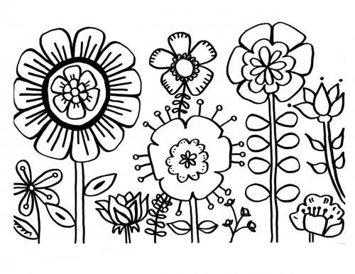 fiori semplici da disegnare