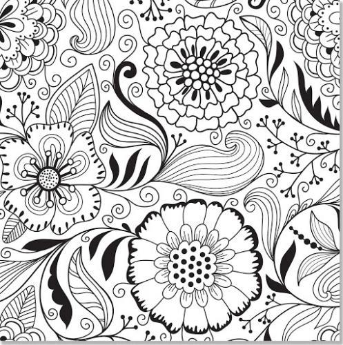 fiori stilizzati da colorare