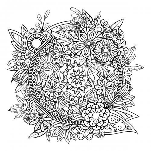 fiori stilizzati per adulti
