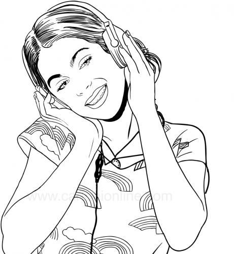 violetta ascolta la musica