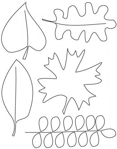 foglie d'Autunno da colorare e stampare