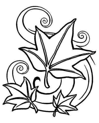 foglie d'Autunno disegni da colorare