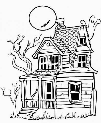 la casa di Halloween