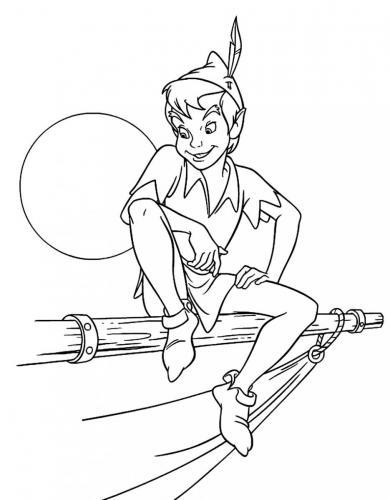 Peter Pan su di un ramo