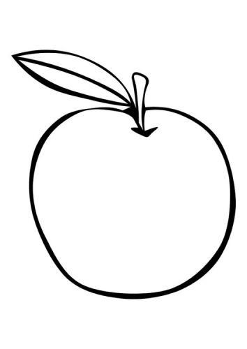mela da colorare