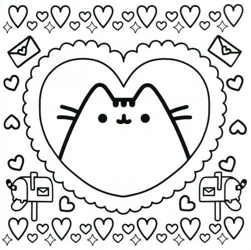 gattini kawaii da colorare disegno