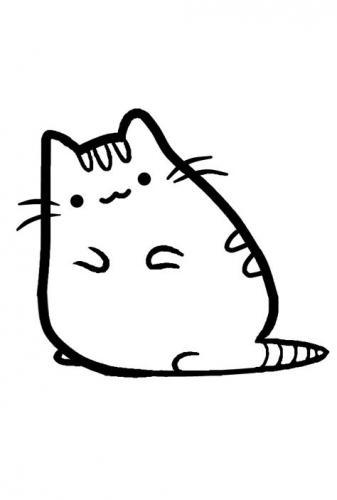 gattini kawaii immagine da stampare e colorare