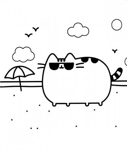 gattini kawaii immagine da stampare