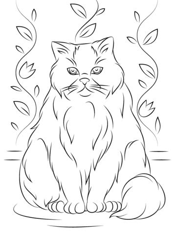 gattino da colorare