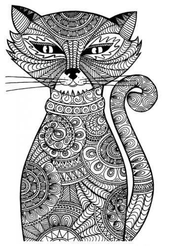 gatto da colorare disegno
