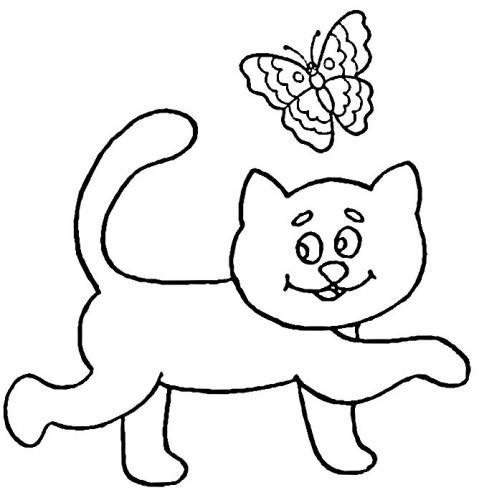 gatto immagini da colorare