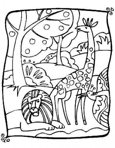 giraffa disegno pdf gratis