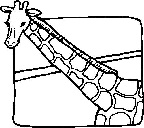 giraffe disegno pdf gratis
