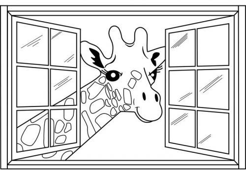 giraffe disegno