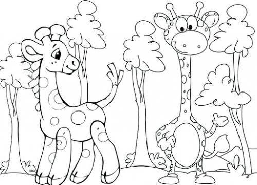 giraffe immagini animate