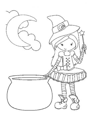 bambina vestita da Halloween