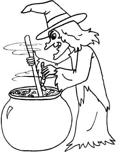 disegno della strega di Halloween