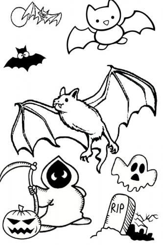 pipistrello con fantasmi