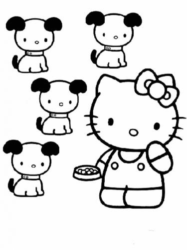 hello kitty da colorare gratis