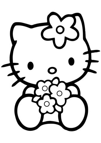 hello kitty da colorare per bambini