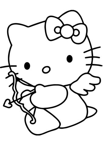 hello kitty da stampare e colorare gratis