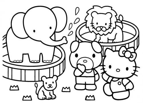 hello kitty disegni da colorare per bambini