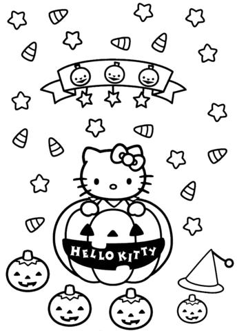 hello kitty halloween da colorare