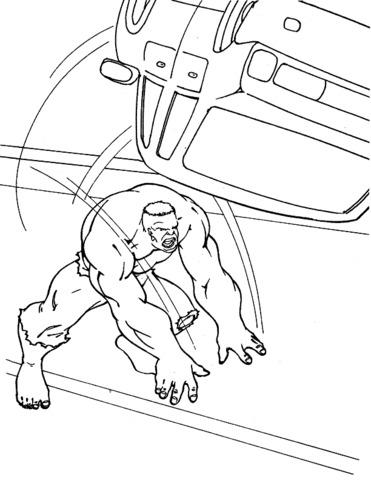 hulk capovolge l'auto