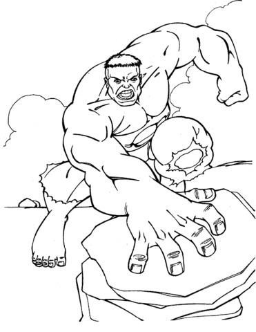 hulk colpisce la roccia