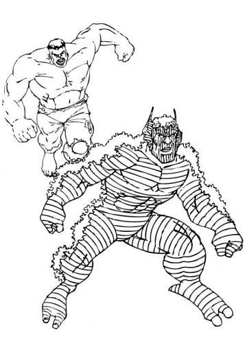 hulk contro un nemico