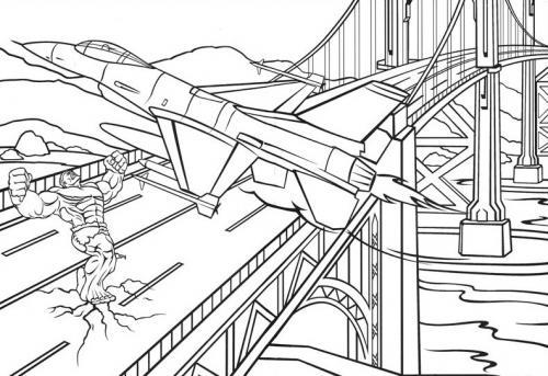 hulk dirotta l'aereo