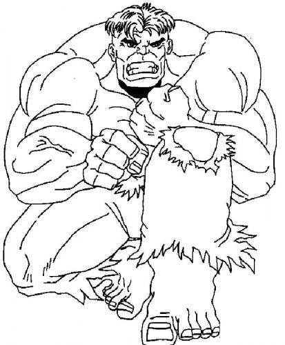 Hulk disegni da colorare gratis Avengers