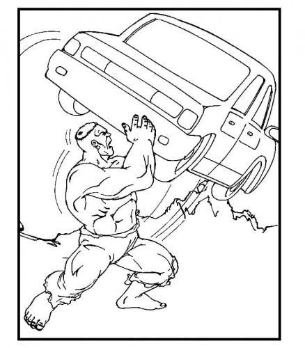 Hulk disegni da colorare on line Avengers