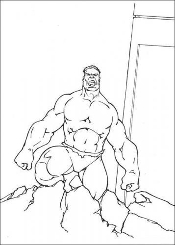 hulk disegni da ritagliare