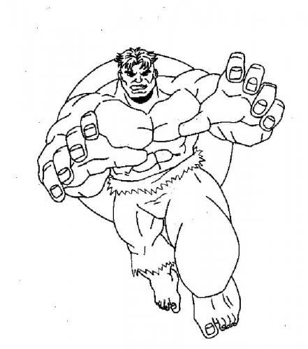 Hulk disegni per bambini da colorare Avengers
