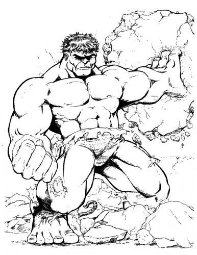 hulk disegno a matita