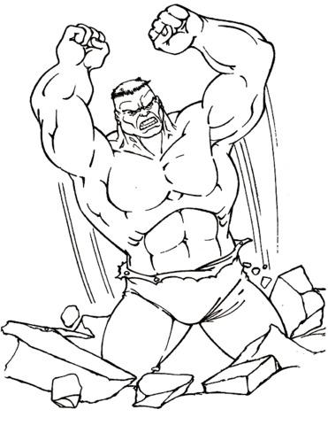 hulk prende a pugni le rocce