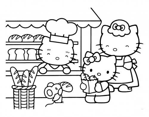i disegni di hello kitty