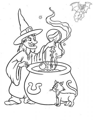 strega che fa una magia