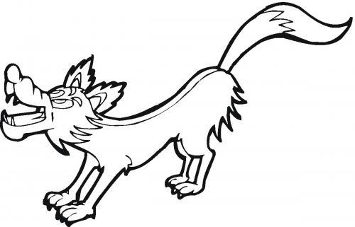 il lupo disegno